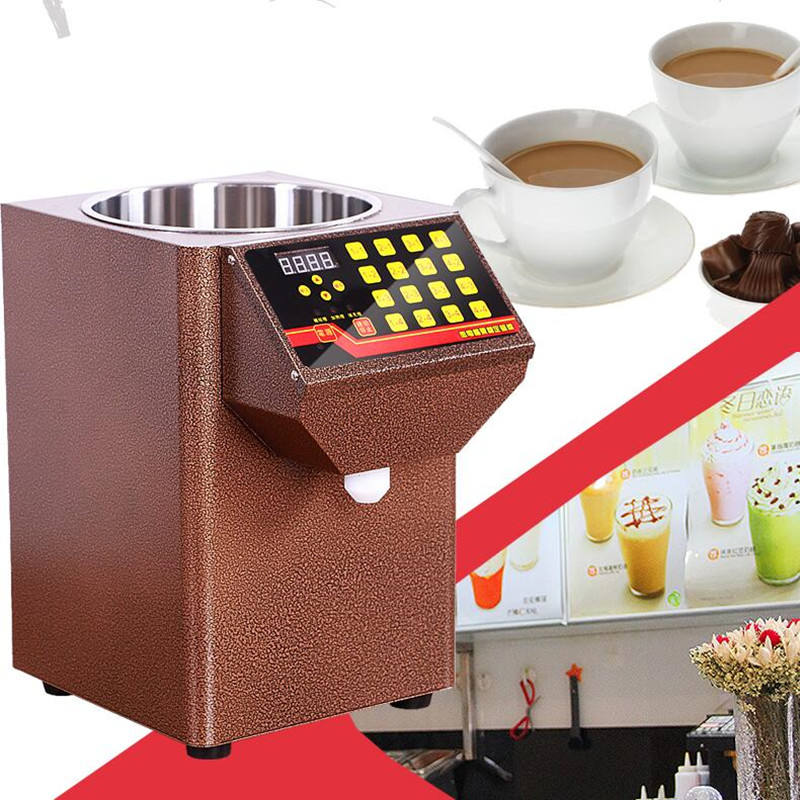 220V Commercial Full-automatic Fructose Machine 16 Grid Quantitative Machine Ultra Precise For Coffee Milk Tea Shop edtid new high quality small commercial ice machine household ice machine tea milk shop