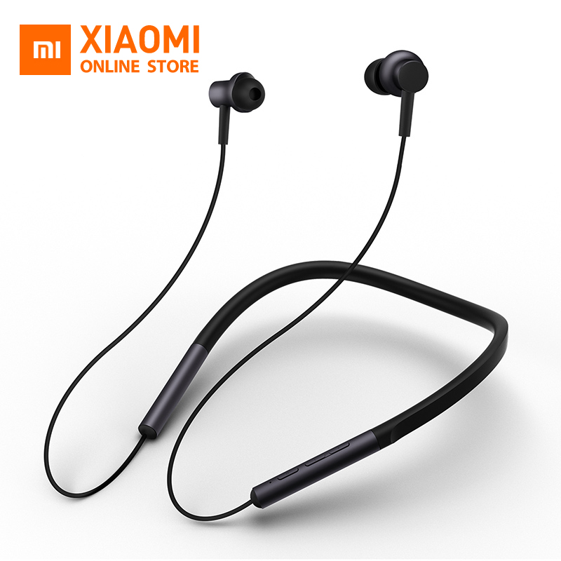 US $44 99 |Original Xiaomi mi Bluetooth Neckband Earphones Wireless Apt x  Hybrid Dual Cell With Mic for Android IOS System Newest Design-in Bluetooth