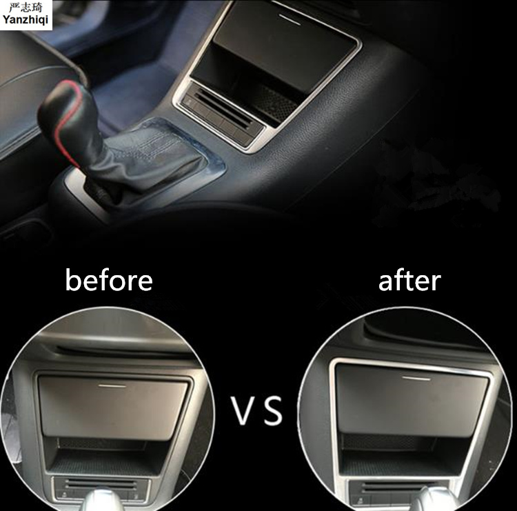 Free Shipping ABS Chrome Light box brighter with medium <font><b>controlled</b></font> storage <font><b>Car</b></font> Styling For VW Volkswage Tiguan mk1 2010-2017 image