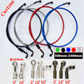 Wholesale Custom 50 to 240cm 10pcs /lot Universal Motorcycle Hydraulic Reinforced Brake Clutch Oil Hose Line Pipe Fit All Racing