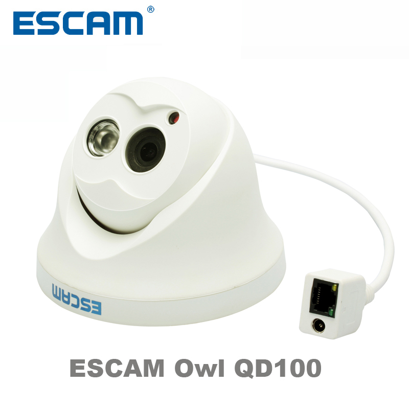 Escam Сова qd100 IP Камера Ночное видение ONVIF 3.6 мм Len HD 720 P H.264 1/4 CMOS P2P мини Камера ИК наружного видеонаблюдения Камера
