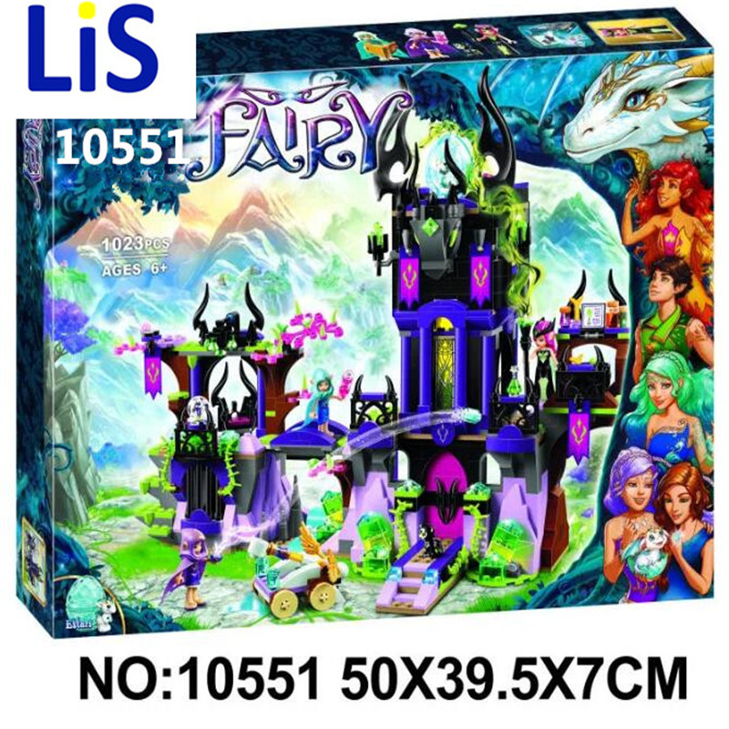 Lis Bela Elves 10551 Wizard Series 41180 Laguna Dark Magic Castle Diy Blocks Toys Compatible with Lepin 41180 Block Toys 10551 elves ragana s magic shadow castle building blocks bricks toys for children toys compatible with lego gift kid set girls