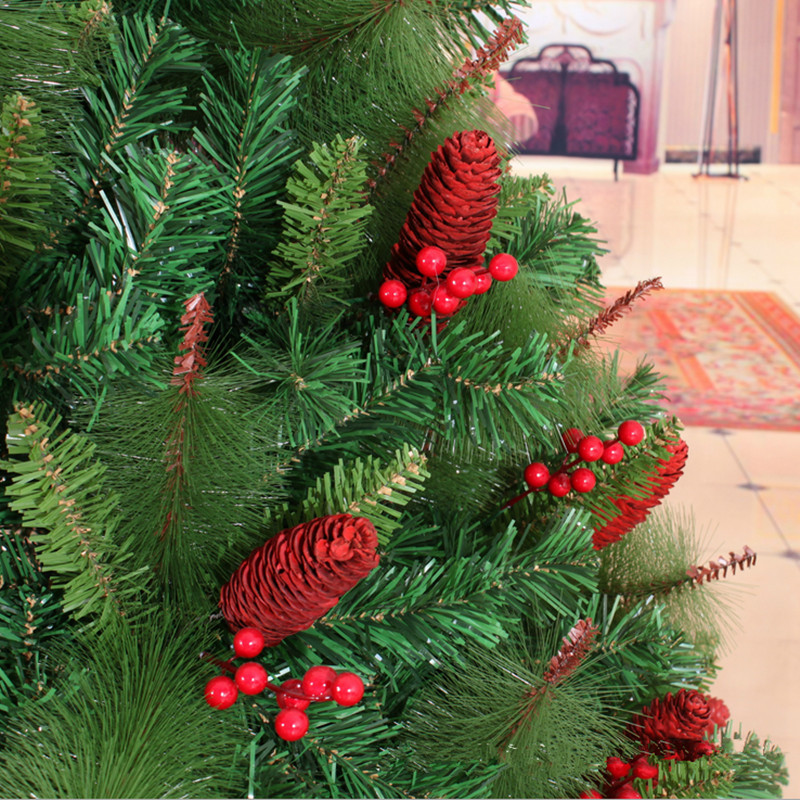 15 m 150cm red berries pinecone christmas tree decoration factory outlets mall christmas decoration in trees from home garden on aliexpresscom - Red Berry Christmas Tree Decorations
