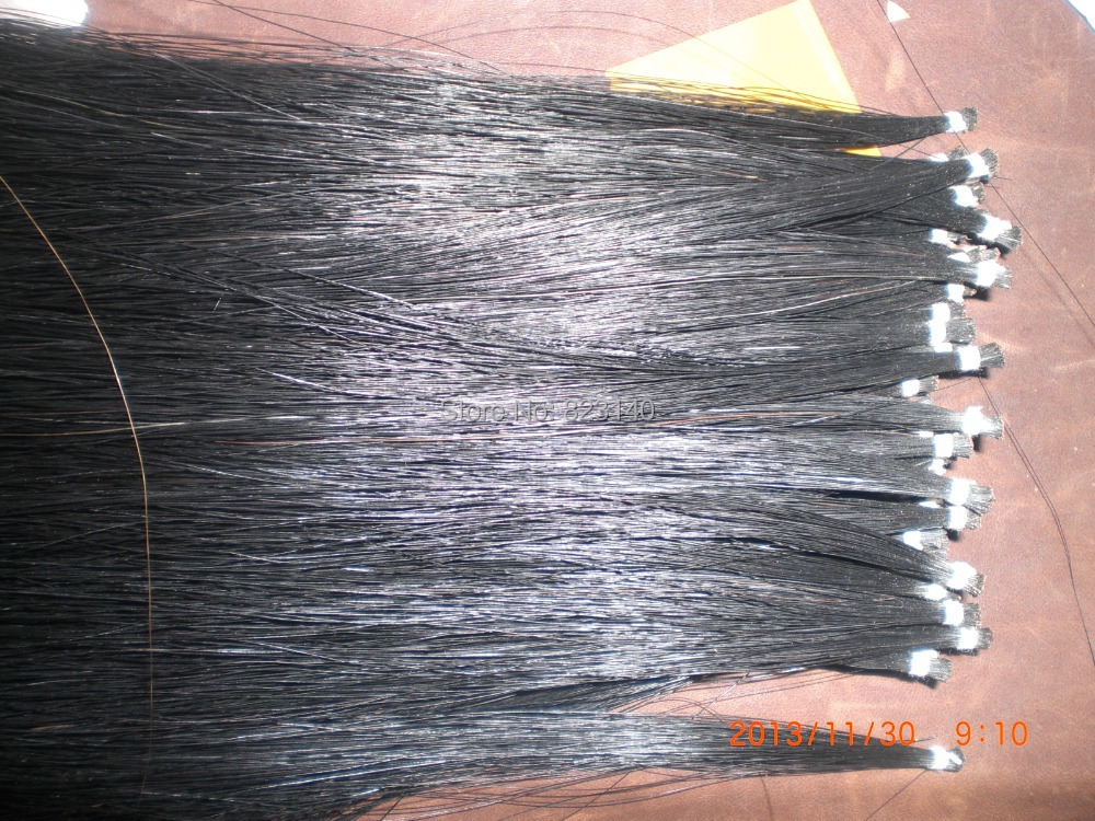 65 Hanks High Quality Stallion Black Bow hair 32 inches 6 grams each hank 250 grams top grade stallion siberian horsetail bowhair 78 cm violin viola cello double bass bow horse hair white bow hair