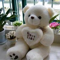 50 cm Dolması Peluş Oyuncak Tutan I Love You Kalp Büyük Sevgililer Günü için peluş Ayıcık Yumuşak Hediye Doğum Günü Kız hediye
