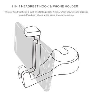Image 4 - Car Clips Seat Back Hooks Bags Hanger Phone Holder Car Accessories Automobiles Headrest Mount Storage Universal Car Hook
