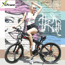 X-Front Mountain Bike 24/26 inch wheel carbon steel 21/24/27 speed outdoor downhill BTX bicicleta di