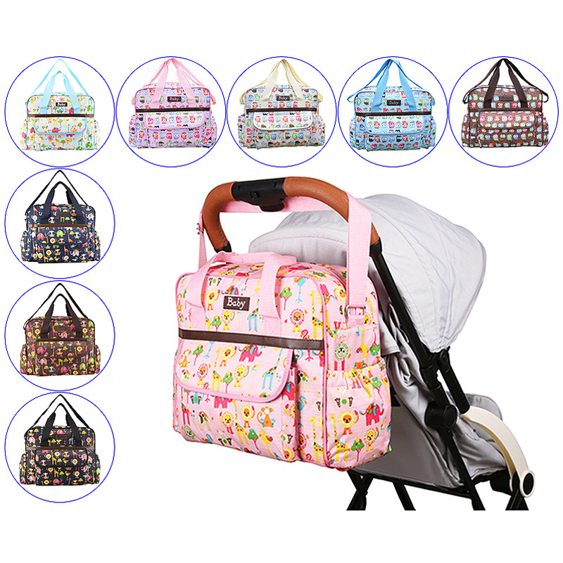 New British Style Waterproof Diaper Bag Large Capacity Messenger Multifunctional Maternity Mother Nappy Bag Baby Stroller Bag