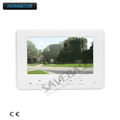 HOMSECUR 7inch XM707-W Color Indoor Monitor With Mude Mode For Video Door Phone Intercom System