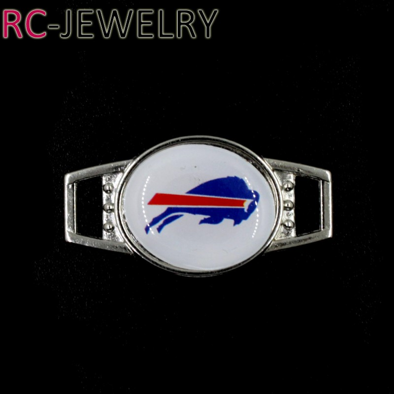 2017 Jewelry Buffalo Bills Football Team Shoelace Buckles Shoe Lace Inserts Shoe Accessories Paracord Bracelets Decoration