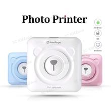Mini Bluetooth термопринтеры карман фотопринтер наклейки Портативный термопринтеры 58 мм для Andproid и iOS система ПК