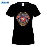 GILDAN Fashion USMC US Marine Corps T Shirt Womens Erazor Bits Military Short Sleeve O Neck