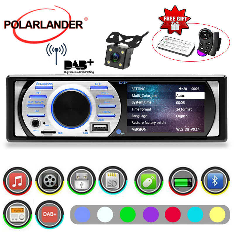 "1Din Car Radio DAB+ With Camera Auto Audio Stereo 3.0 "" HD MP5/WMA 12V  USB/TF/AUX in FM In-Dash Interface Bluetooth ISO Contact"