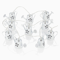 Chic Creative Iron Art Craft Floral Mini Watering Can String Lights For Wedding Holiday Theme Party