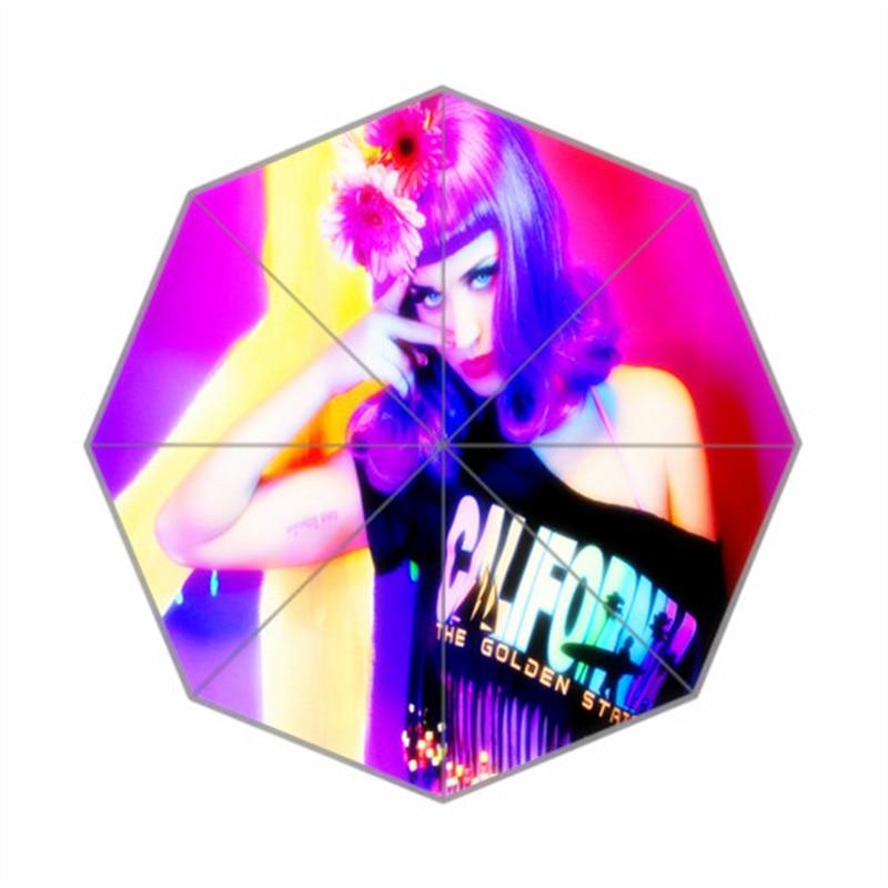 new Custom Katy Perry Artwork Umbrella Sunny and Rainy Sunscreen Anti-uv Umbrella