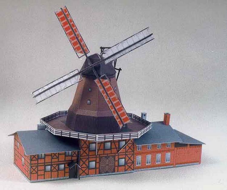 Dutch windmill paper model paper Xianer | Architect