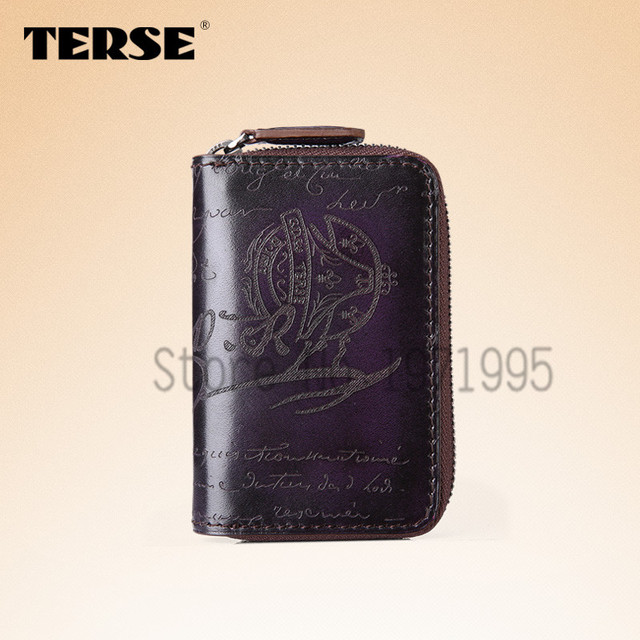 TERSE Hot sell key wallet genuine leather vintage high quality handmade custom logo top brand OEM service