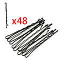 Women headwear makeup hair maker round toe black hair clip 48pcs/card bobby pins clip Tools big promotions