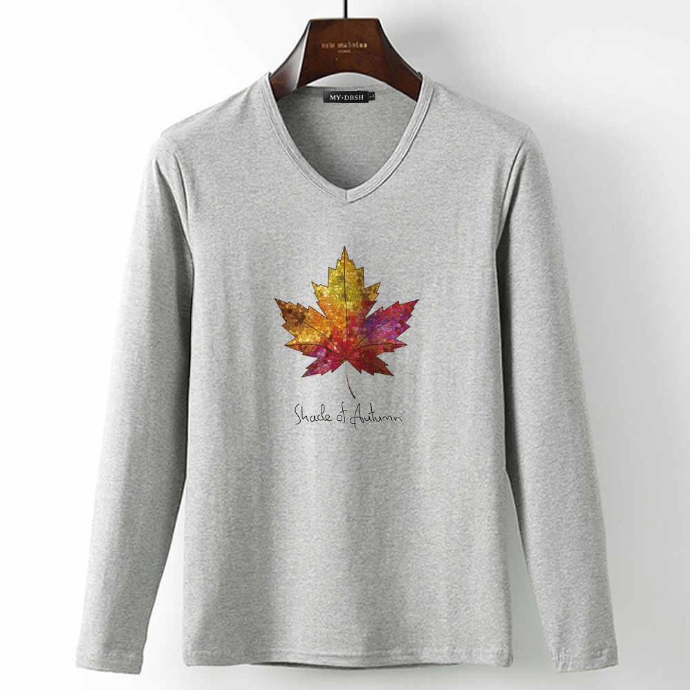 355ea0766ad ... Новинка 2019 года тенты Осень Человек модные футболки Канадский  кленовый лист печатных футболка аниме повседневное брендовая ...