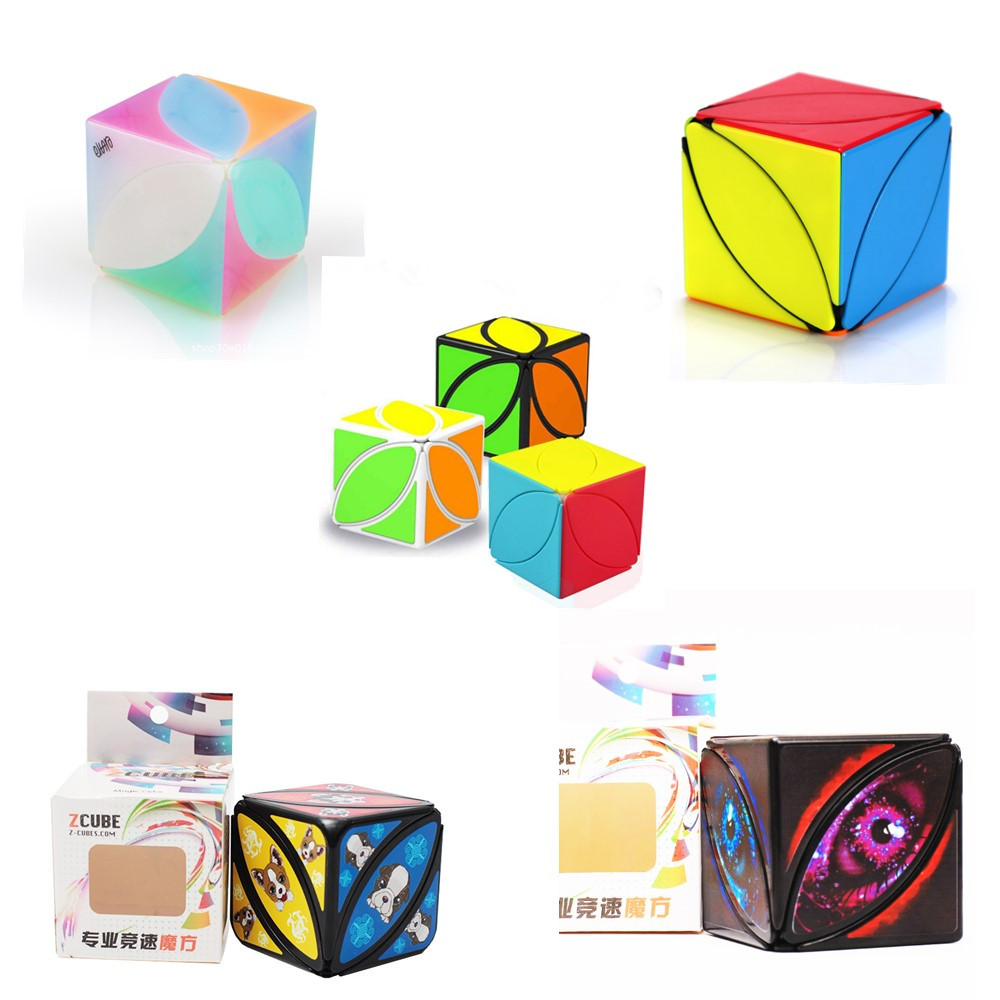 QiYi Mofangge Ivy Cube Leaf Speed Cube Strange Shape Twisty Magic Cube Fanxin Zcube Devil Eye Version  Dog Version Stickerless