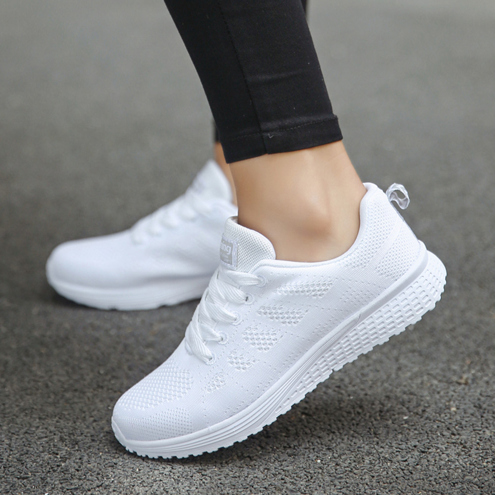 New 2019 Spring Fashion Women Casual Shoes Suede Leather Shoes Women Sneakers Ladies White Trainers Chaussure Femme#es(China)