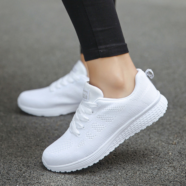 New 2019 Spring Fashion Women Casual Shoes Suede Leather Shoes Women Sneakers Ladies White Trainers Chaussure Femme#es