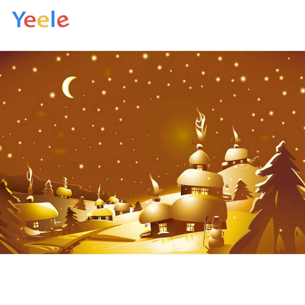 Yeele Christmas Photocall Cartoon Snow World Castle Photography Backdrops Personalized Photographic Backgrounds For Photo Studio