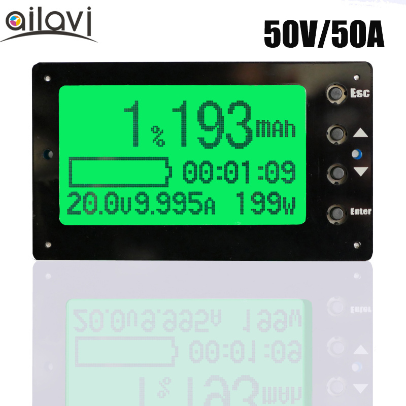 TF03 Large Screen Coulomb Meter Battery Capacity Display Lithium Iron Phosphate Remain Capacity Detector Tester 80v 50a precise real capacity tester meter for lifepo4 lithium lipo liion battery