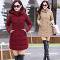 2016 Autumn Winter Jacket Women Cotton-padded Plus Size Winter Coat Women Thicken Warm Parka Female Hooded Overcoat M-XXXL