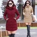 2016 Outono Mulheres Jaqueta de Inverno de Algodão-acolchoado Plus Size Mulheres Casaco de Inverno Engrossar Quente Parka Com Capuz Feminino Casaco M-XXXL