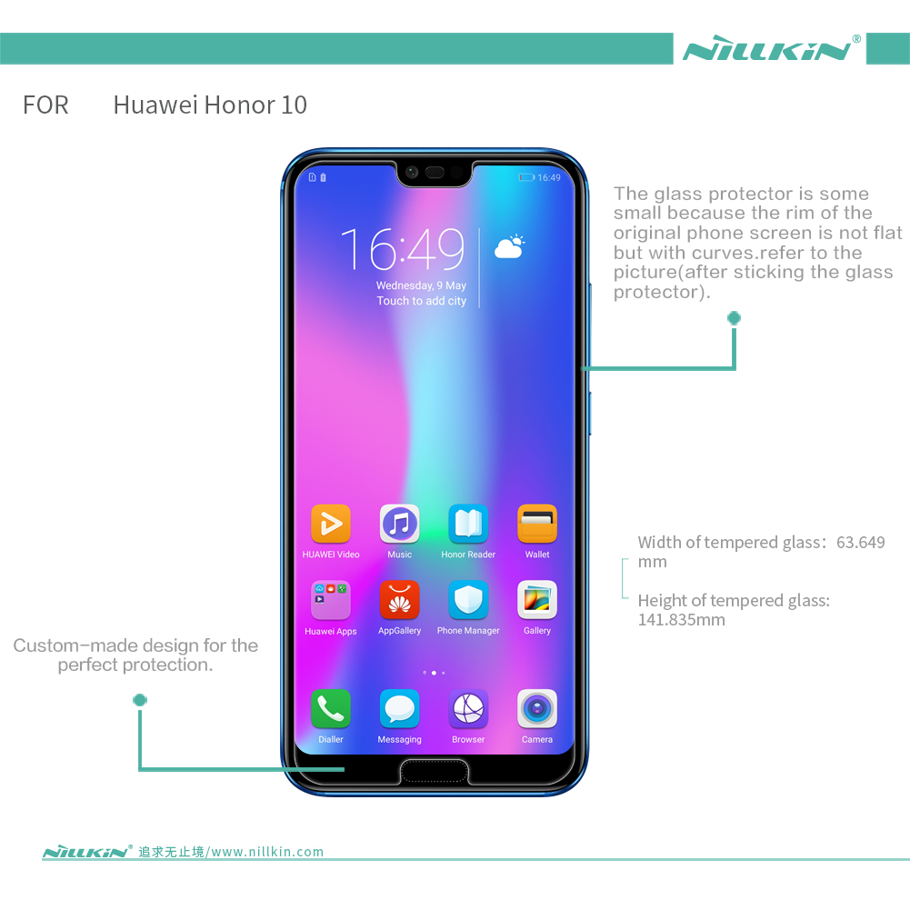 Image 2 - Huawei Honor 10 Glass Tempered Nillkin Amazing H+Pro 0.2MM Screen Protector Glass for Huawei Honor 10 Honor10-in Phone Screen Protectors from Cellphones & Telecommunications on