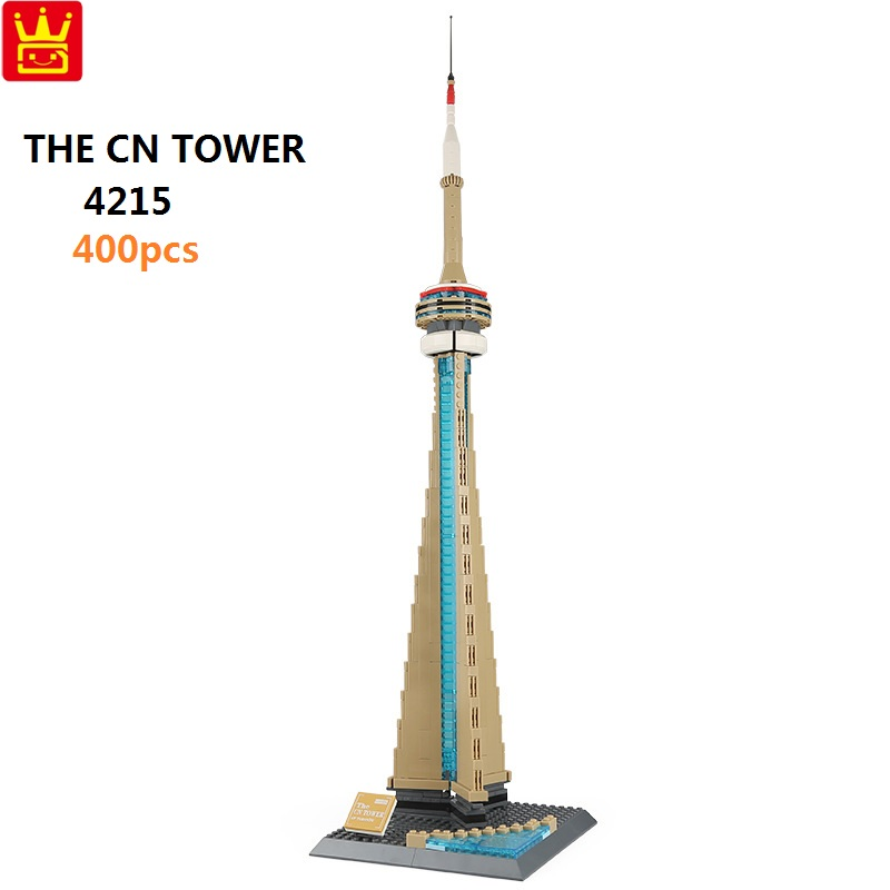 купить Wange BlOCKS Architecture Series The Toronto CN Tower Model Educational Building Bricks Toy For Children Funny Boy Gifts 4215 по цене 1249.81 рублей