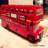 Presell Lepin 21045 1716Pcs Genuine Technic Series The London Bus Set Building Blocks Bricks Children Educational