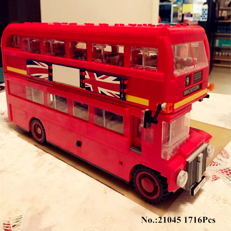 H HXY 21045 1716Pcs Genuine Technic Serie The London Bus Set Building Blocks Bricks Educational lepin