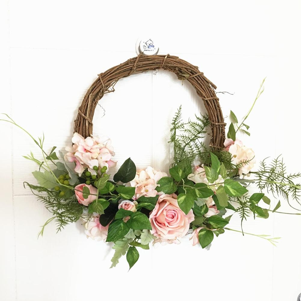 Flower Wreaths For Weddings: Artificial Flower Rose Wreath Door Wreath Artificial