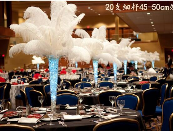 16 18 inch Ostrich Feather Plume Wedding centerpieces table ...