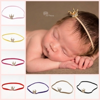Wholesale Fashion Crown Headband Baby Girls Hair Accessories Tiara Infant Elastic Hair Bands Newborn Baby Headwear