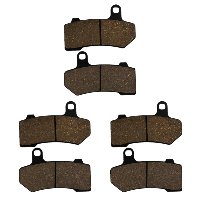 Motorcycle Parts Front & Rear Brake Pads Kit For Harley VRSCX VRSCAW V-Rod VRSCF V-Rod FLHT FLHTK Muscle Metal & Brass Alloys motorcycle parts front