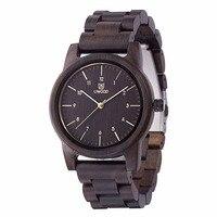 Natürliche Holz Uhr Ebenholz Männlichen Antiken Hölzernen Uhren WU1007 Holz Band Mode Neue Orologio Japan Bewegung Uhren Für Unisex