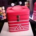 Double Layers 3CE Cosmetic Bag Korea High-Capacity Makeup Case Professional Zipper Cosmetics Storage Truck Bag