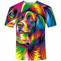 Funny 3D Printed T-shirts Colorful Animal Printing 3D Tee Shirt Novelty Summer Tops Short Sleeve O-Neck Unisex TShirt