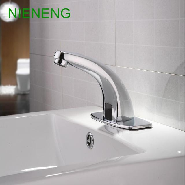 NIENENG Sensor Tap Bathroom Sink Faucets Cold Water Automatic Restaurant  Accessories Basin Hospital Appliance Taps ICD60232