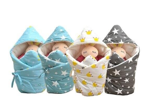 90*90cm winter Muslin newborn baby swaddle wrap 100% cotton thick soft infant newborn baby Blanket & Swaddling Wrap Sleepsack