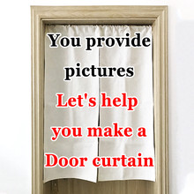 Custom Curtain Japanese Style Linen Door  Bedroom kitchen Curtains Home Entrance decoration Customizable curtain