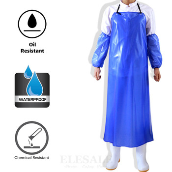 1Pcs High Quality Waterproof Oil-Resistant PVC Apron Butcher Fisher Unisex Thick Work Safety Reusable Apron Kitchen Clean 1
