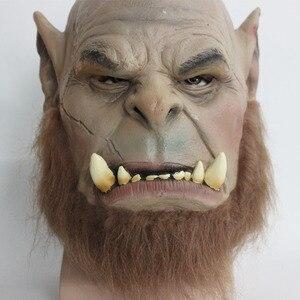 Image 5 - 2016 Movie World of Warcraft Mask Ogrim Doomhammer Latex Mask Party Halloween Mask