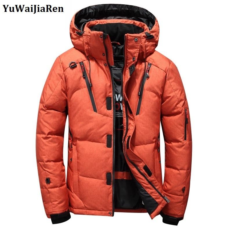 YuWaiJiaRen Winter Jackets Men Fashion Hooded Thick Warm Casual Fashion Coat Parka Male High Quality Clothing Coats Brand