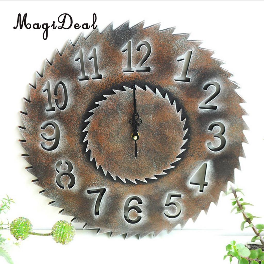 Industrial European Vintage 3D Rustic Decorative Gear Wooden Vintage Wall Clock