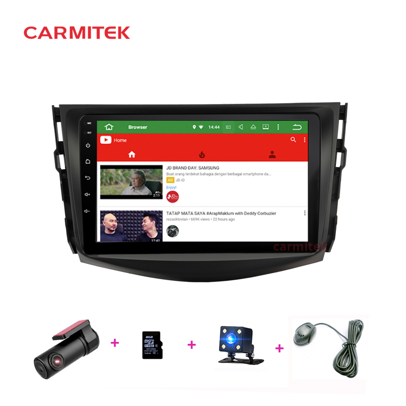 Car Multimedia player Android 9.0 2 din car dvd gps navigation For Toyota RAV4 <font><b>Rav</b></font> <font><b>4</b></font> 2007-<font><b>2011</b></font> car radio stereo image