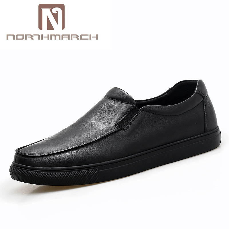 NORTHMARCH 2018 New Casual Shoes Quality Loafers Men Shoes Genuine Leather Comfortable Flats Shoe For Men Sapato Masculino Couro mycolen spring genuine leather men shoes comfortable boat shoes business mens loafers shoes casual sapato masculino couro